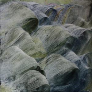 Isa Dahl, wanderung, 2017, Öl auf Leinwand, 200 x 200 cm