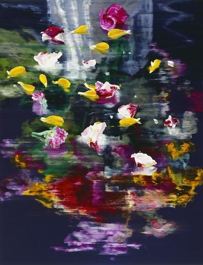 Blüten, 2017, Ölfarbe auf Leinwand, 260x200cm