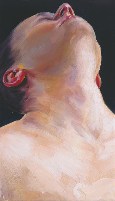 Hals, 2016, Öl auf Leinwand, 70×40 cm