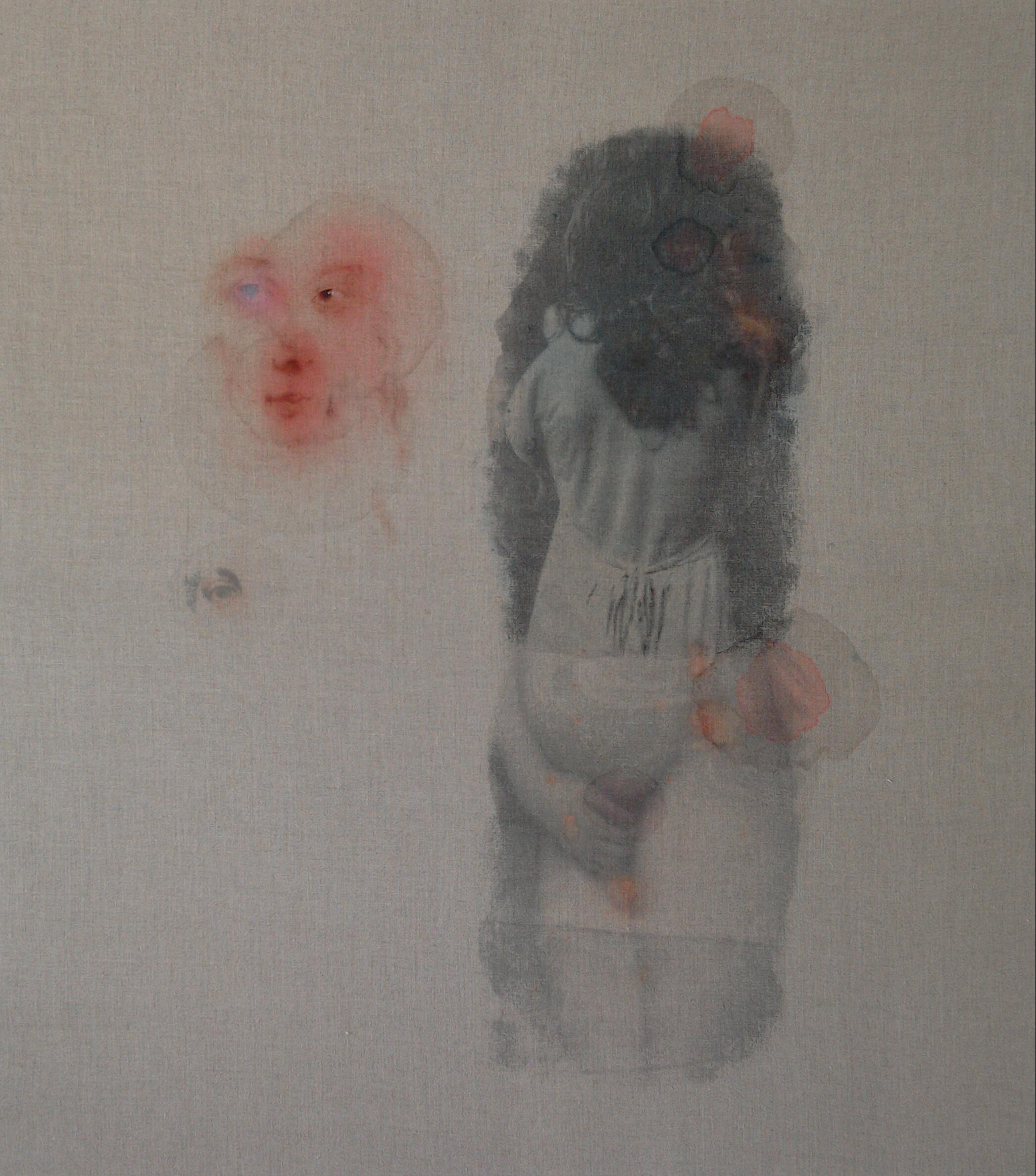 """""""I, Rubens"""",2018,Öl, Terpentin und Toner auf Portraitleinen, 90×80 cm"""