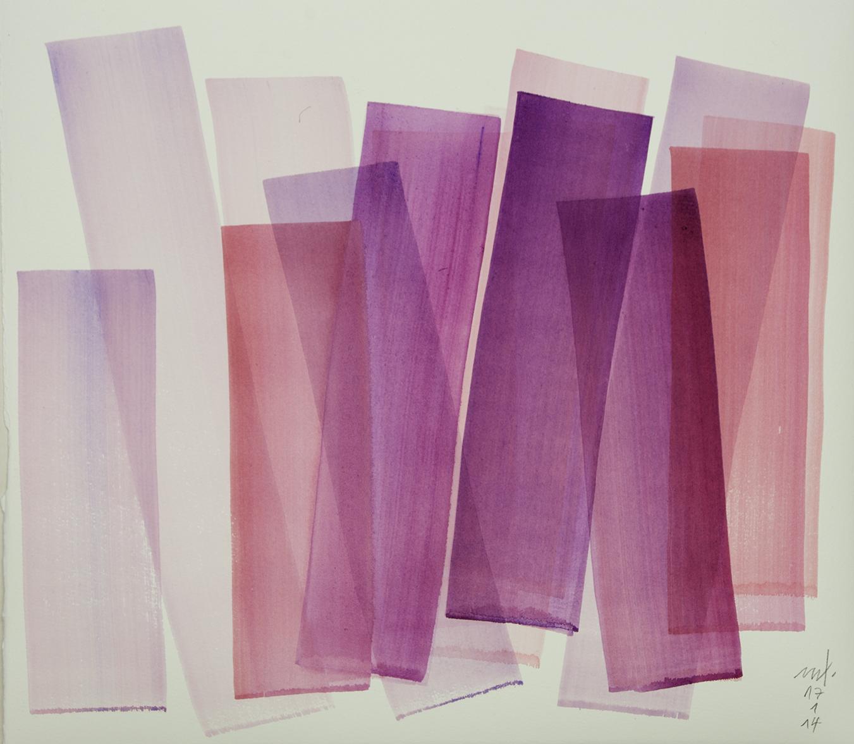 Farblicht 14-01-17, 32x38cm, Eitempera auf Büttenpapier