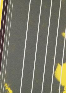 Untitled (Kranebitten, Inn 3), 2018, river sand, ball-pen ink, pigmentind grounding on linen, 100 x 80 cm